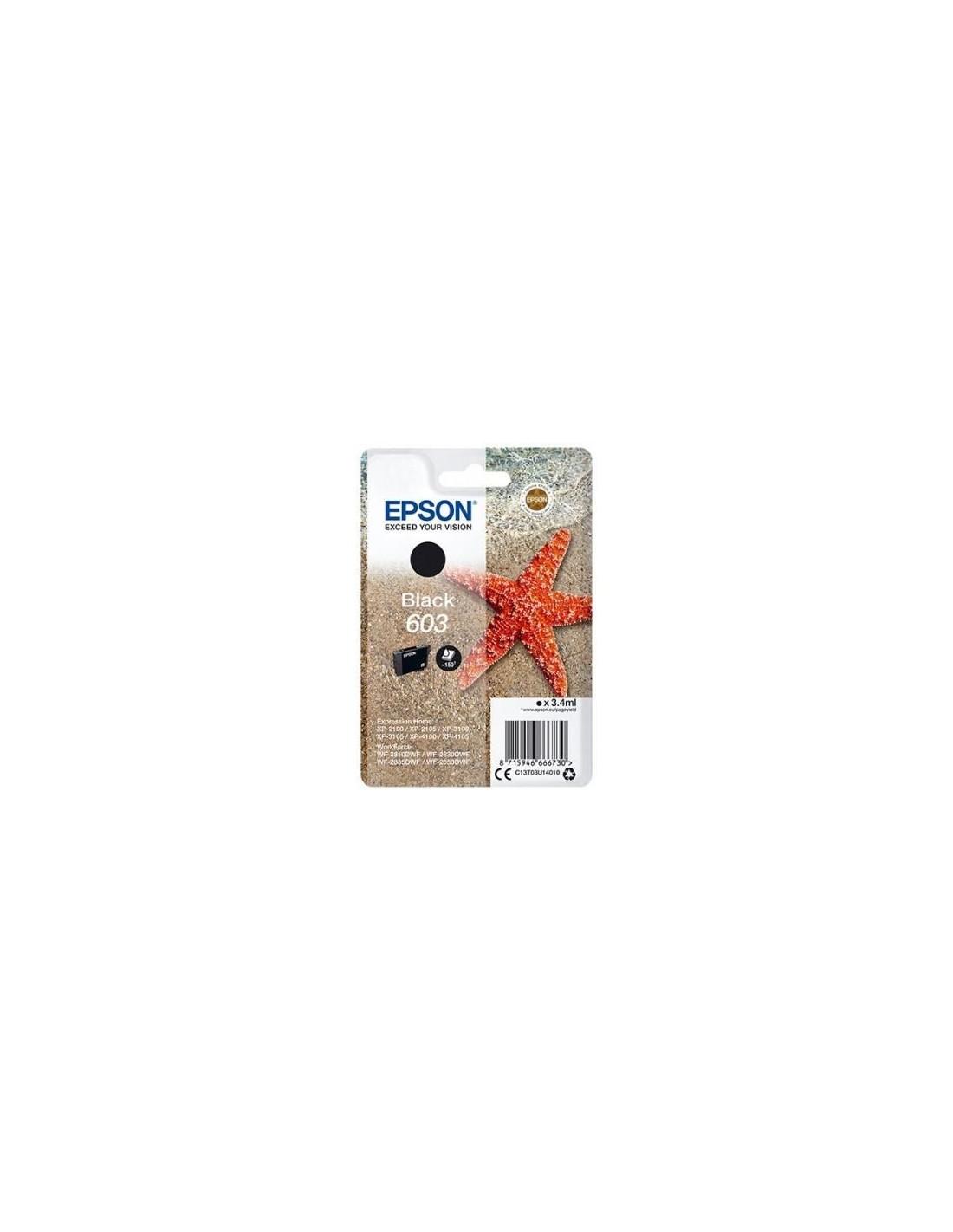 Epson tinta negra Std Estrella de mar 1 tinta 603 No Tag Single